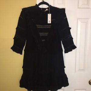 New Smashing Silk and Lace Rebecca Taylor Dress